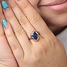 "Кольцо Teosa серебро с родием, сапфир, ""каратник"" R-DRGR00762-SP, фото 2"