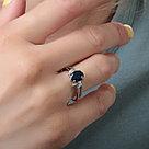 """Кольцо Teosa серебро с родием, сапфир фианит, """"halo"""" R-DRGR00751-SP, фото 2"""