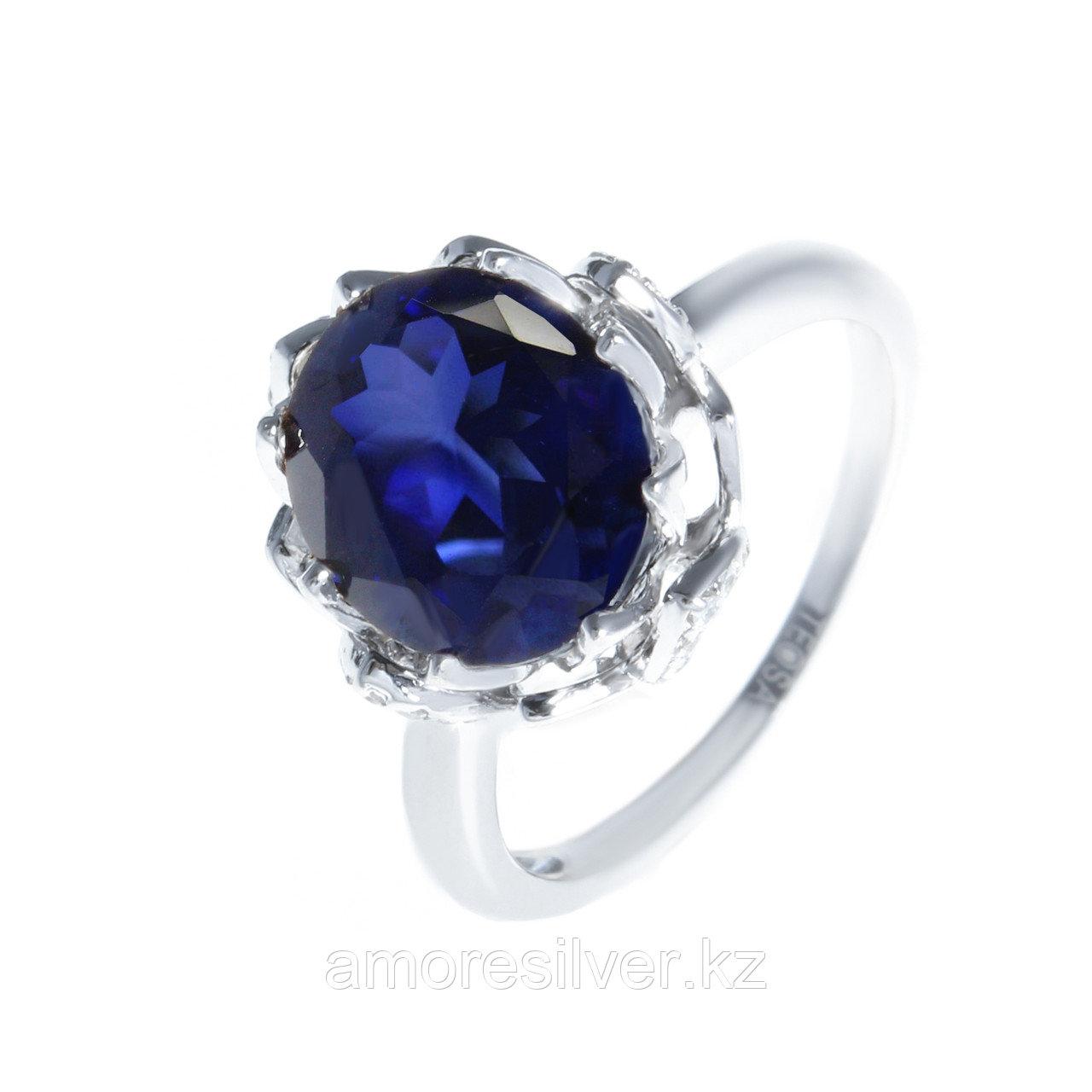 """Кольцо Teosa серебро с родием, сапфир фианит, """"каратник"""" R-DRGR00546-SP"""