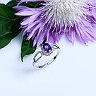 "Кольцо Teosa серебро с родием, аметист фианит, ""halo"" R-DRGR00758-AM, фото 3"