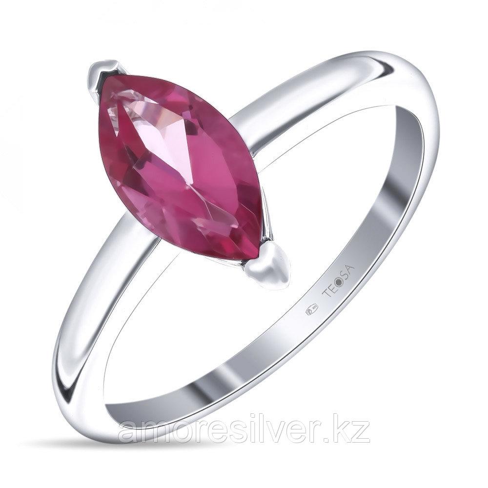 """Кольцо Teosa серебро с родием, топаз розовый, """"каратник"""" R-DRGR00691-TP"""