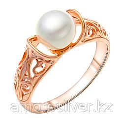 Кольцо Красная Пресня серебро с позолотой, жемчуг имит., ажурное 2368917 размеры - 19