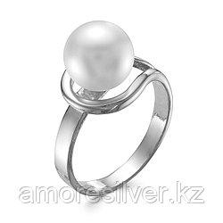 Кольцо Красная Пресня серебро с родием, жемчуг имит., , капля 2368826Д размеры - 18