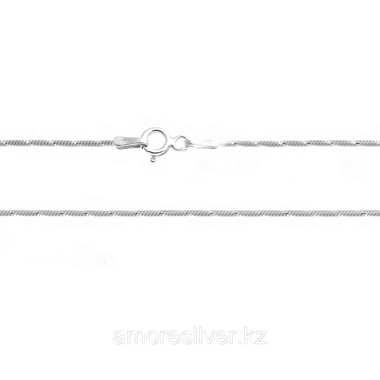 Цепь Teosa серебро с родием, без вставок, снейк с насечками GRQ 8L I011/S-020-40