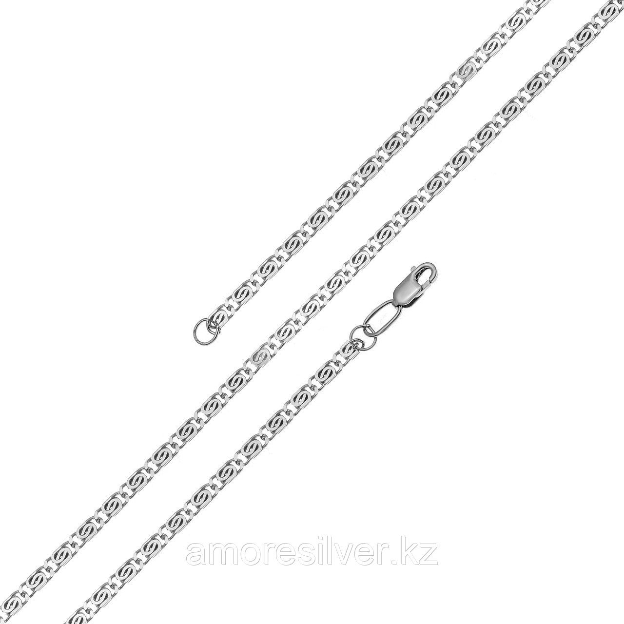 Цепь  серебро с родием, без вставок, улитка 81035180140