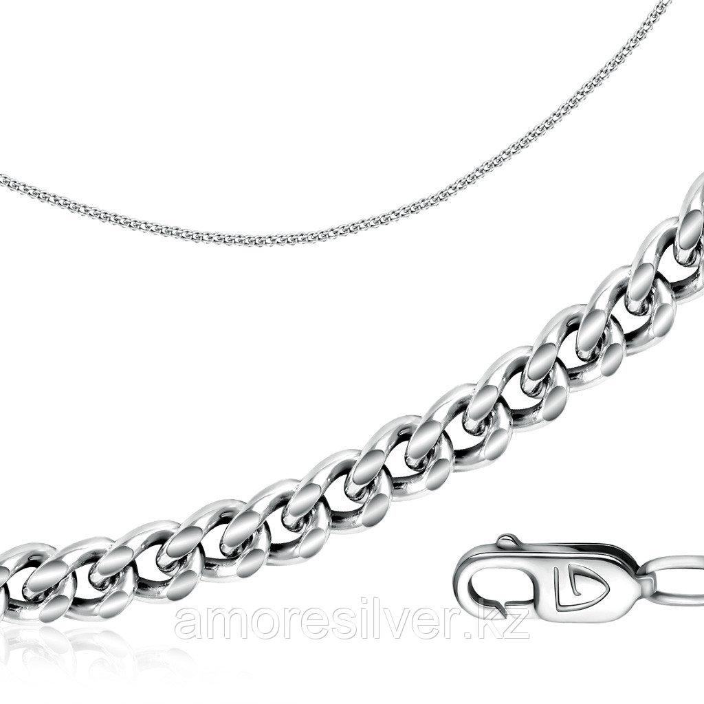 Цепь  серебро с родием, без вставок, панцирная 81070010150 размеры - 50
