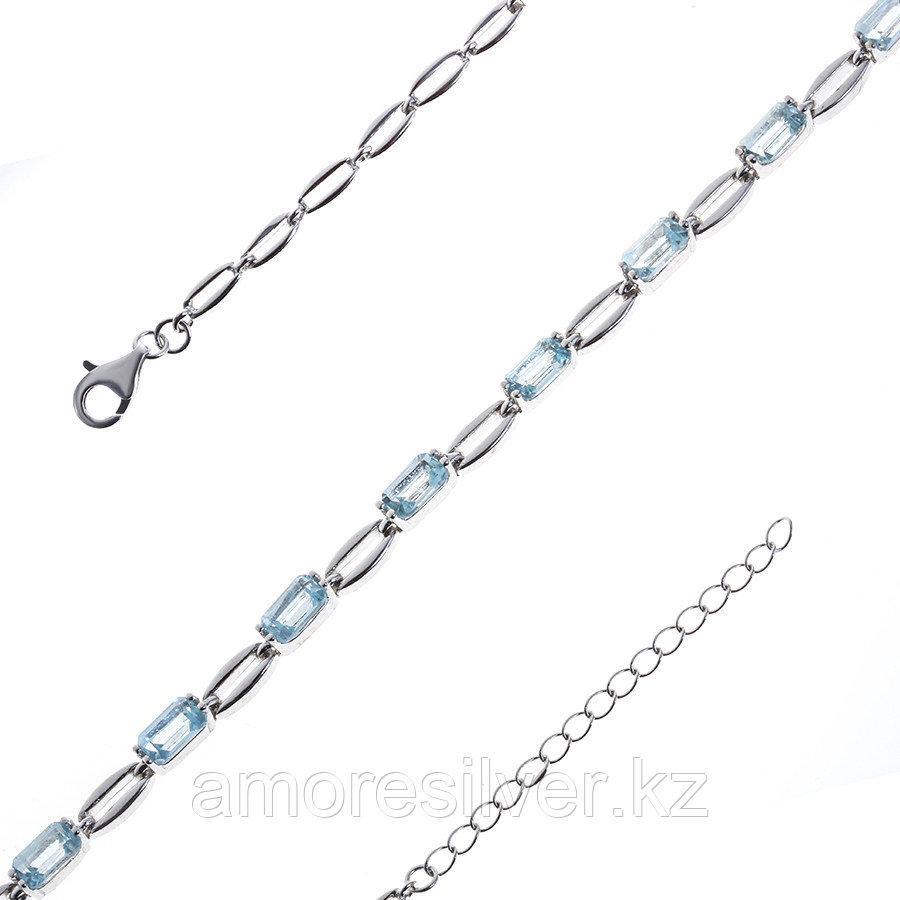 Браслет Teosa серебро с родием, топаз, дорожка B-DRGR00622-T