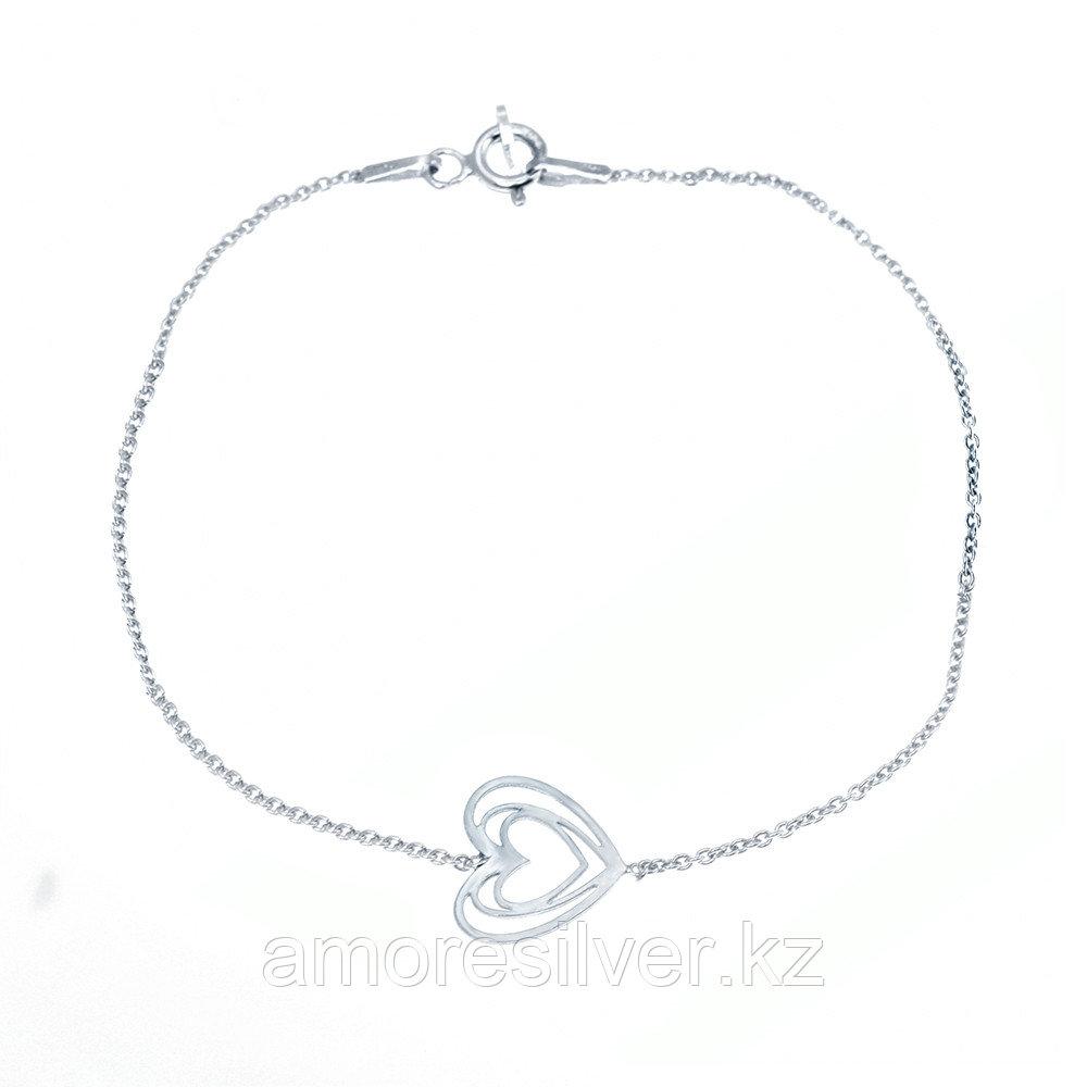 Браслет Teosa серебро с родием, без вставок, фантазийная SET7962/B BR-18