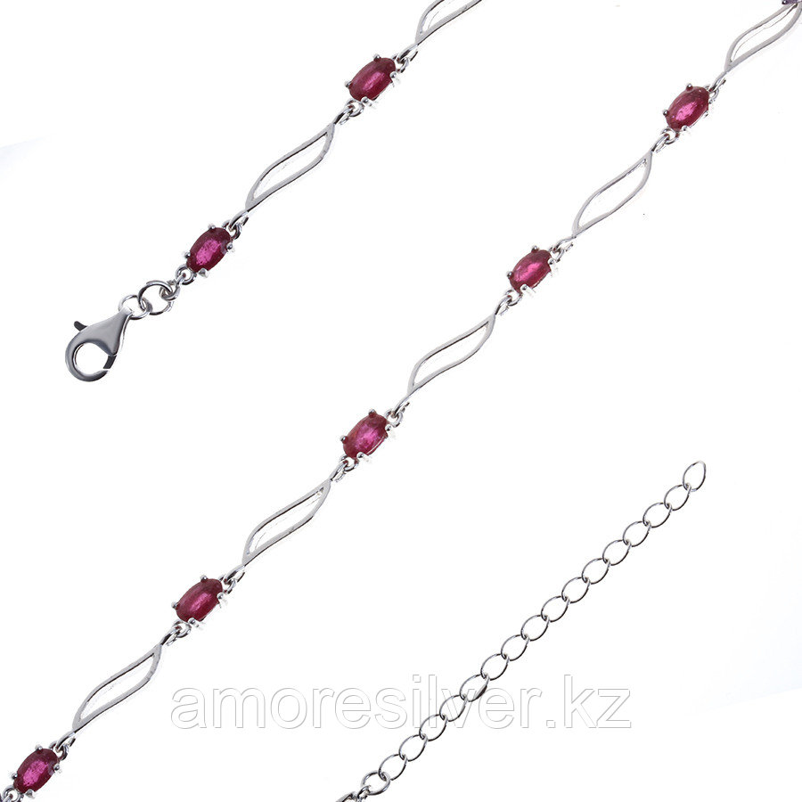 Браслет Teosa серебро с родием, рубин, дорожка B-DRGR00618-RB