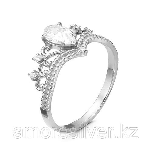 Кольцо Красная Пресня серебро с родием, фианит, фантазия 2389880Д размеры - 16,5