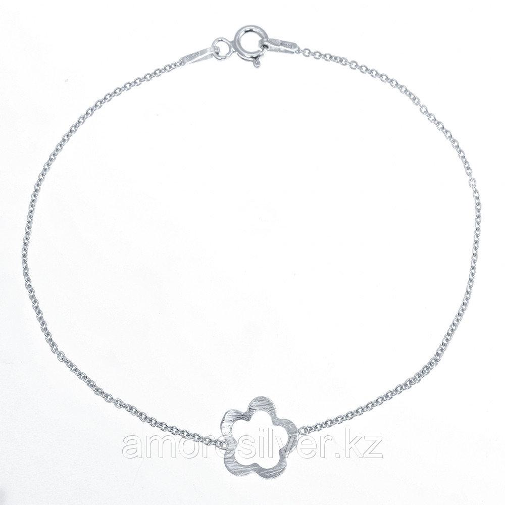 Браслет Teosa серебро с родием, без вставок, фантазийная SET7962/A BR-17