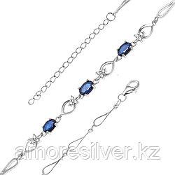 Серебряный браслет с сапфиром   Teosa B-DRGR00620-SP размеры - 19