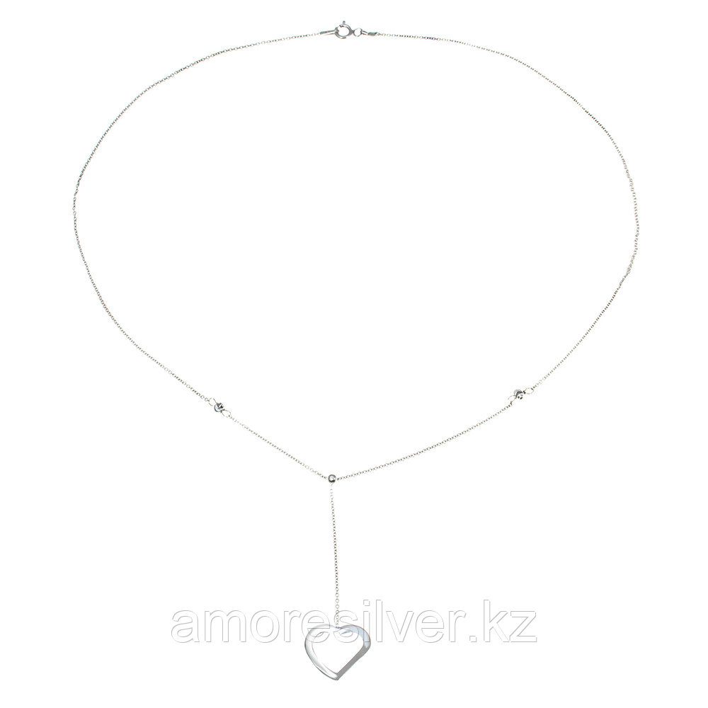 Колье Teosa серебро с родием, без вставок, фантазийная, фантазия SET7962/H2-45