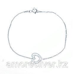 Колье Teosa серебро с родием, без вставок, фантазийная SET7962/B-45 размеры - 45