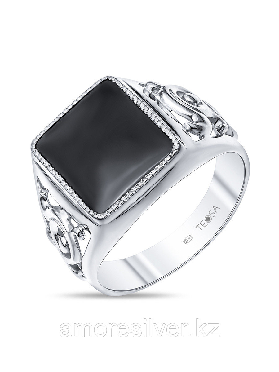 Кольцо Teosa серебро с родием, фианит, классика T-115125