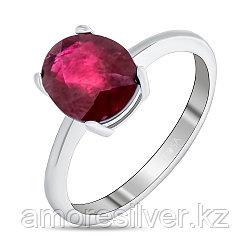 """Кольцо Teosa серебро с родием, рубин, """"каратник"""" R-DRGR00554-RB"""