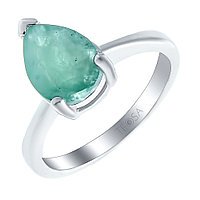 "Кольцо Teosa серебро с родием, изумруд нат. (o), ""каратник"" R-DRGR00553-EM размеры - 17 17,5"