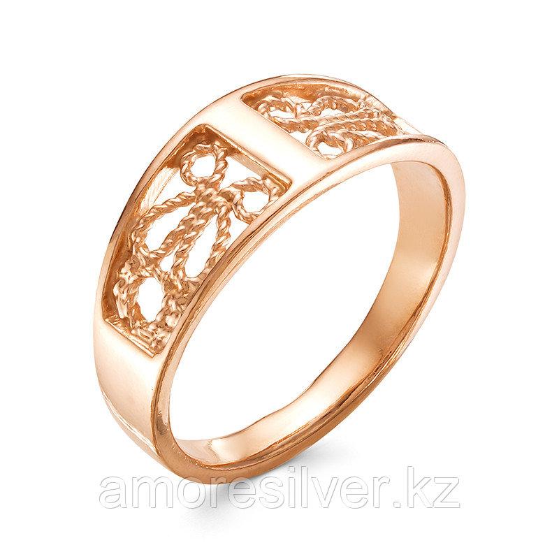 Кольцо Красная Пресня серебро с позолотой, ажурное 2309445