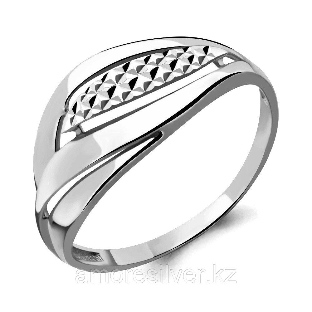 Кольцо Aquamarine серебро с родием, без вставок, геометрия 54588.5
