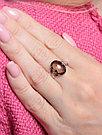 """Кольцо Teosa серебро с родием, """"каратник"""" R-DRGR00789-SQ, фото 2"""