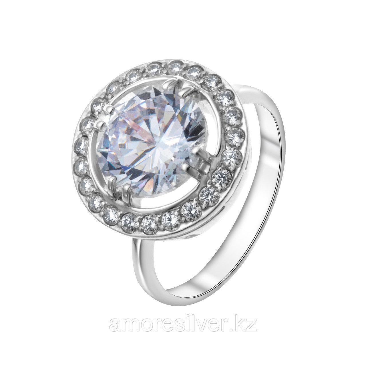 "Кольцо Teosa серебро с родием, фианит, , ""halo"" 100-031"