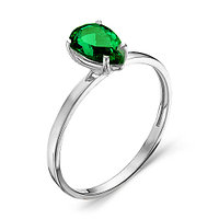 """Кольцо Teosa серебро с родием, фианит цветной, """"каратник"""" 100-1084-EM размеры - 16 17"""