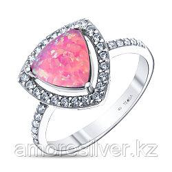 Кольцо Teosa серебро с родием, опал розовый синт. фианит, , треугольник F-OCC00007R-OPP размеры - 18 18,5