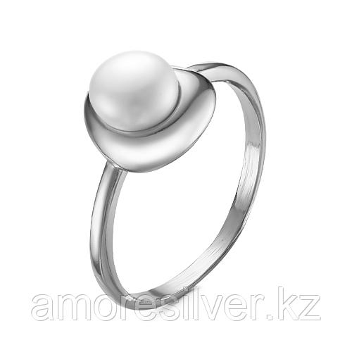 Кольцо Красная Пресня серебро с родием, жемчуг культ. 23310324Д размеры - 18
