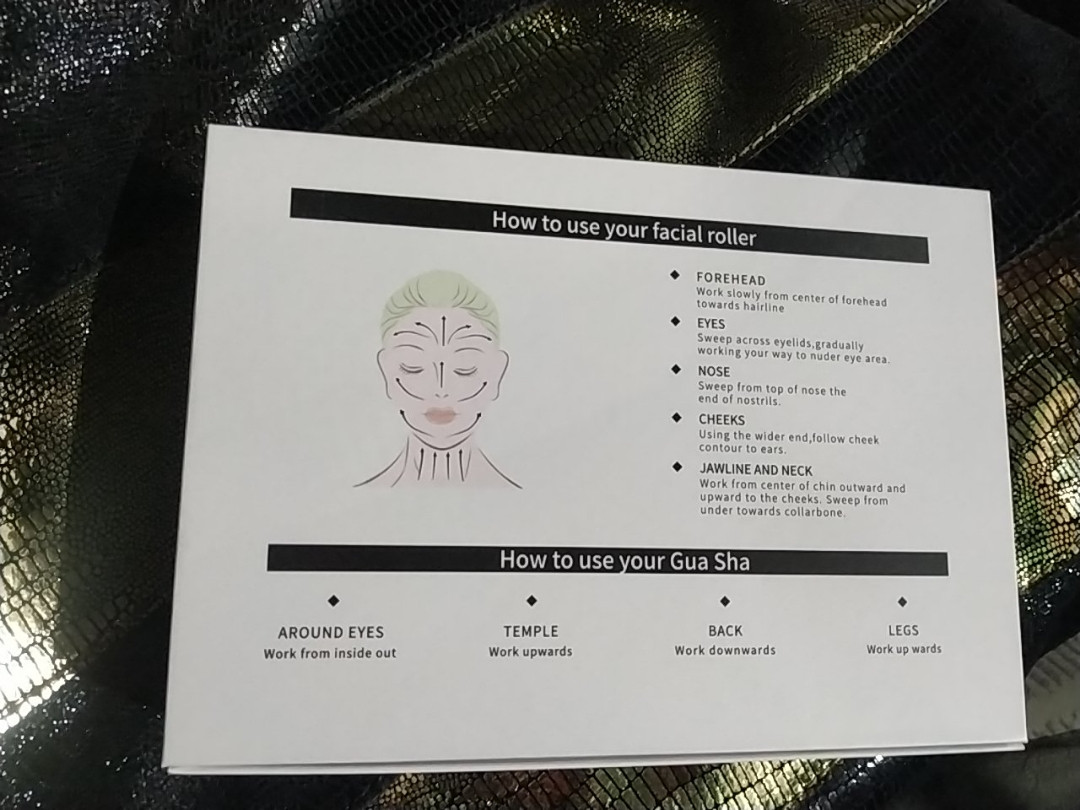 Гуаша набор для массажа оригинал нефрит - фото 2