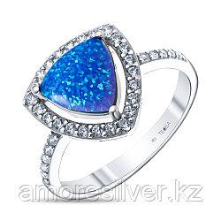 Кольцо Teosa серебро с родием, фианит опал голубой синт., треугольник F-OCC00007R-OPB