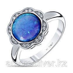 Кольцо Teosa серебро с родием, фианит опал голубой синт., , круг F-OTQ000612R-OPB размеры - 17,5