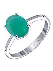 "Кольцо Teosa серебро с родием, изумруд нат. (o), ""каратник"" R-DRGR00683-EM"