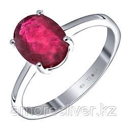 """Кольцо Teosa серебро с родием, рубин нат. (h), """"каратник"""" R-DRGR00684-RB"""