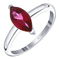 """Кольцо Teosa серебро с родием, топаз фламинго, """"каратник"""" R-DRGR00691-TF размеры - 17"""