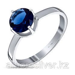 "Кольцо Teosa серебро с родием, кварц сапфир, ""каратник"" 1-194-Р-СП"