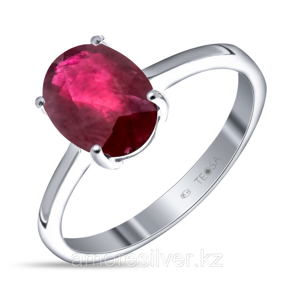 "Кольцо Teosa серебро с родием, рубин нат. (h), ""каратник"" R-DRGR00683-RB размеры - 15,5 17 18"