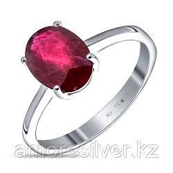 """Кольцо Teosa серебро с родием, рубин нат. (h), """"каратник"""" R-DRGR00683-RB"""