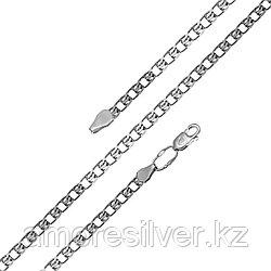 Цепь  серебро с родием, без вставок, лав 81050190150 размеры - 50