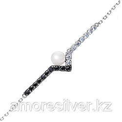 Серебряный браслет с керамикой    Teosa ZCBR-2117-W размеры - 16,5