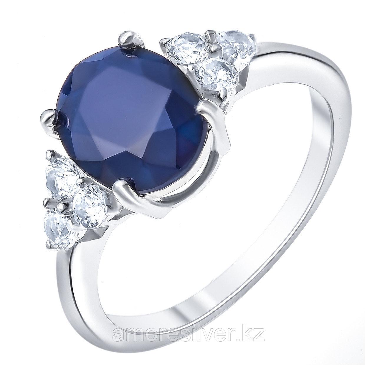 """Кольцо Teosa серебро с родием, сапфир топаз белый, """"halo"""" R-DRGR00627-SP-T размеры - 17,5"""