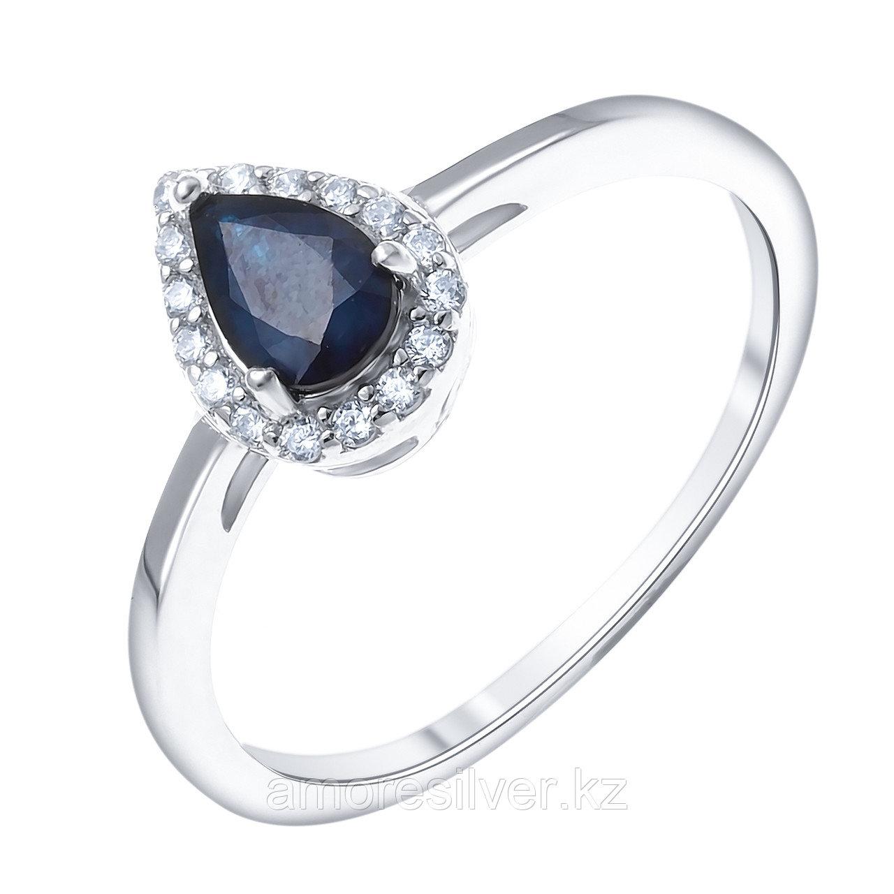 """Кольцо Teosa серебро с родием, топаз белый сапфир нат. (u), , """"halo"""" R-DRGR00906-SP-T размеры - 16,5"""