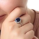 """Кольцо Teosa серебро с родием, сапфир фианит, """"halo"""" R-DRGR00491-SP размеры - 18,5, фото 2"""