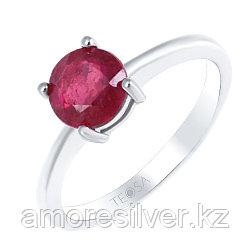 """Кольцо Teosa серебро с родием, рубин нат. (h), """"каратник"""" R-DRGR00556-RB"""