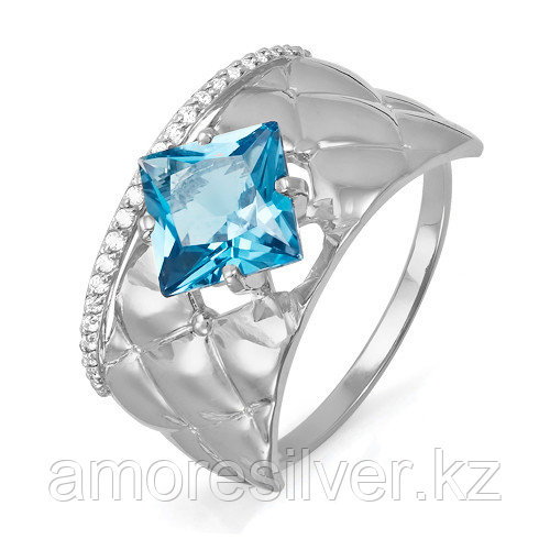 """Кольцо Teosa серебро с родием, фианит, """"halo"""" T-с311452 размеры - 17,5"""