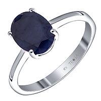 """Кольцо Teosa серебро с родием, сапфир сапфир нат. (u), """"каратник"""" R-DRGR00684-SP размеры - 17 17,5"""