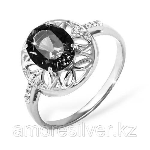 """Кольцо  серебро с родием, гранат фианит, """"halo"""" 1021010394 размеры - 17"""