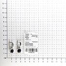 Серьги из серебра с аквамарином   Teosa 2000-0339-GLS, фото 2
