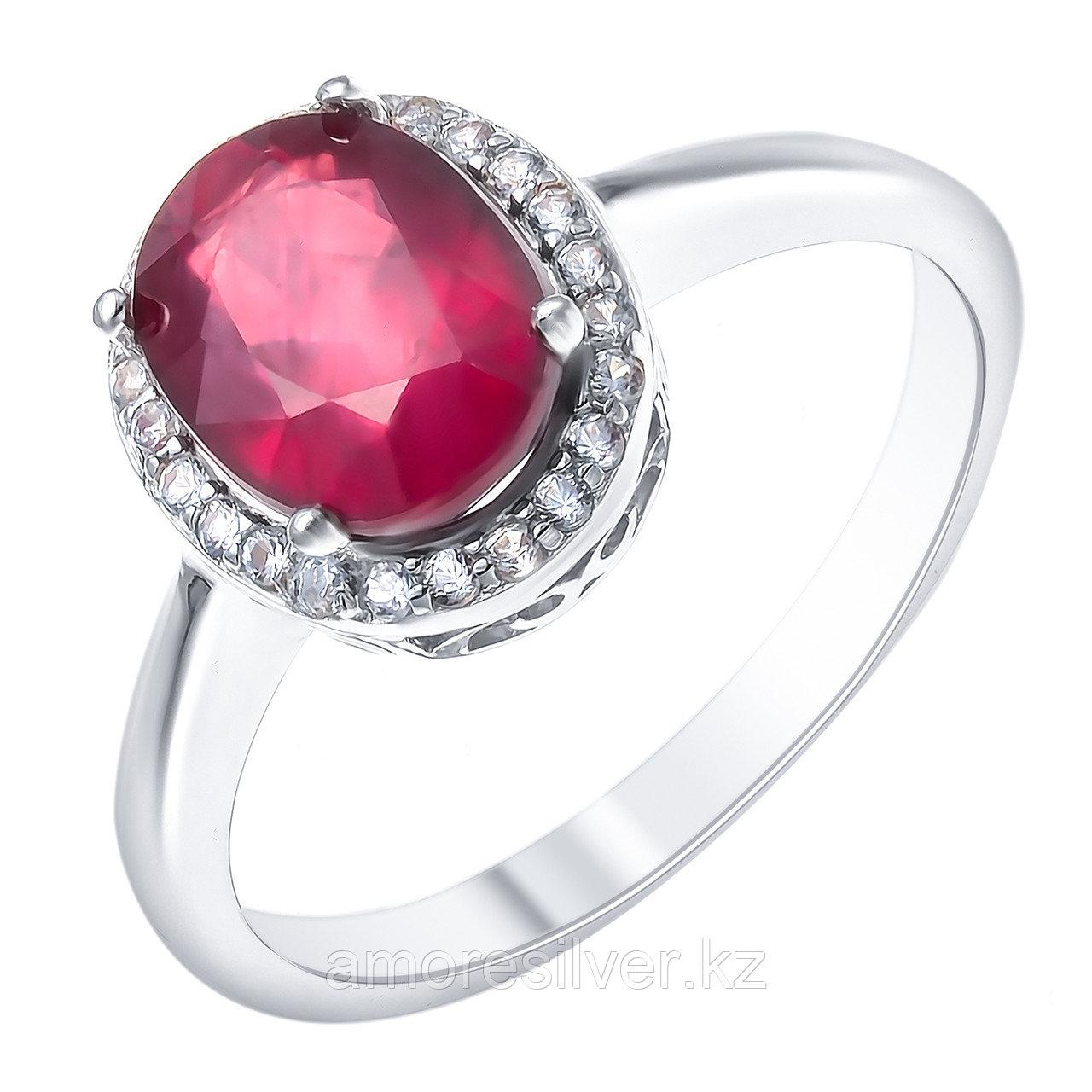 """Кольцо Teosa серебро с родием, рубин топаз, """"halo"""" R-DRGR00907-RB-T"""