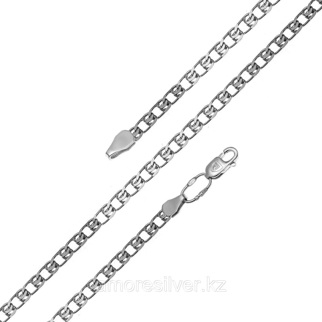 Цепь  серебро с родием, без вставок, лав 81050190160