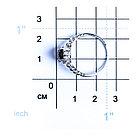 """Кольцо Teosa серебро с родием, гранат фианит, """"halo"""" R-DRGR00738-GR, фото 2"""